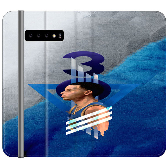 Steph Curry Warrior Samsung Galaxy S10 Flip Case | Frostedcase