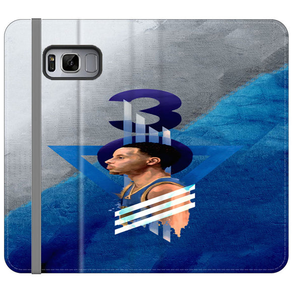 Steph Curry Warrior Samsung Galaxy S8 Flip Case | Frostedcase
