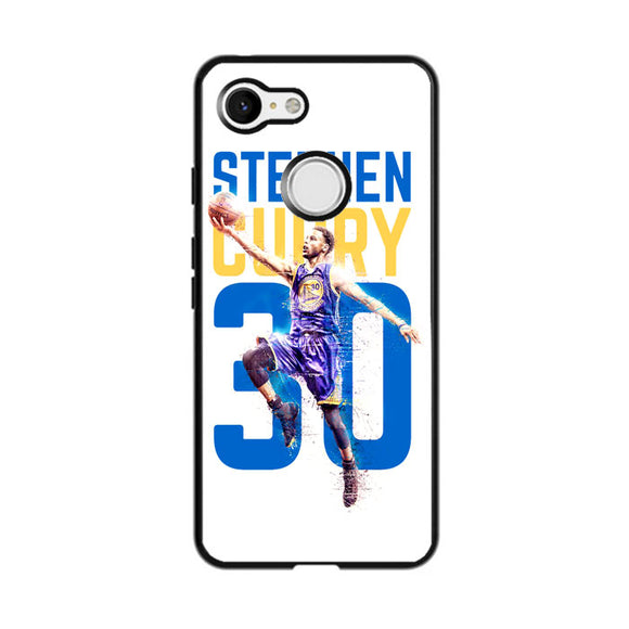Stephen Curry 30 Ilustration Google Pixel 3 XL Case | Frostedcase
