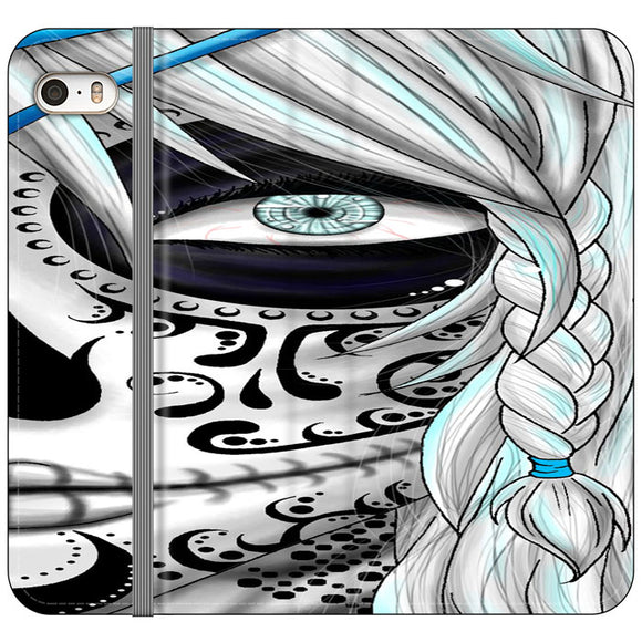 Sugar Skull Girl iPhone 5|5S|SE Flip Case | Frostedcase