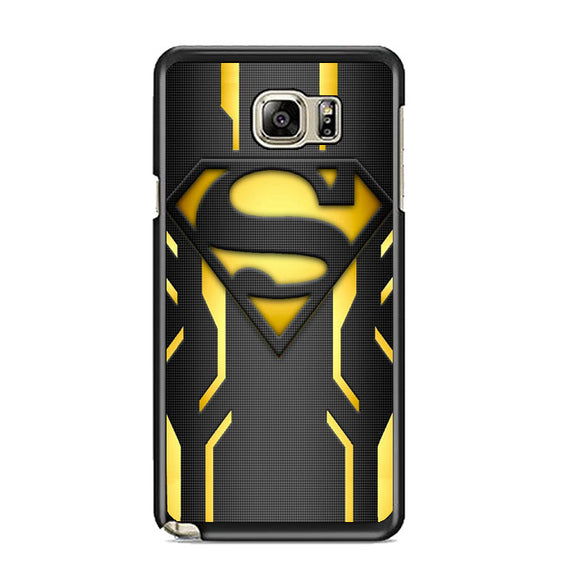 Super Hero Superman Logo Metallic Samsung Galaxy Note 5 Case | Frostedcase