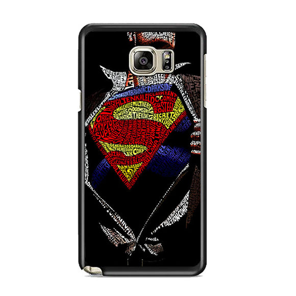 Super Hero Superman Word Ilustrasi Samsung Galaxy Note 5 Case | Frostedcase