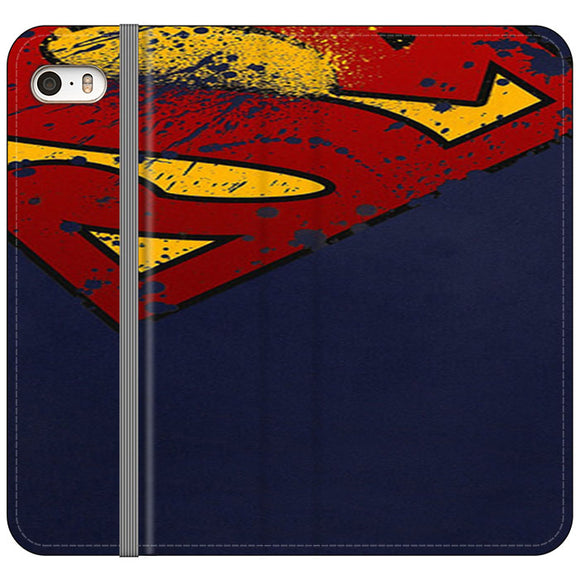 Super Herro Superman Blue iPhone 5|5S|SE Flip Case | Frostedcase