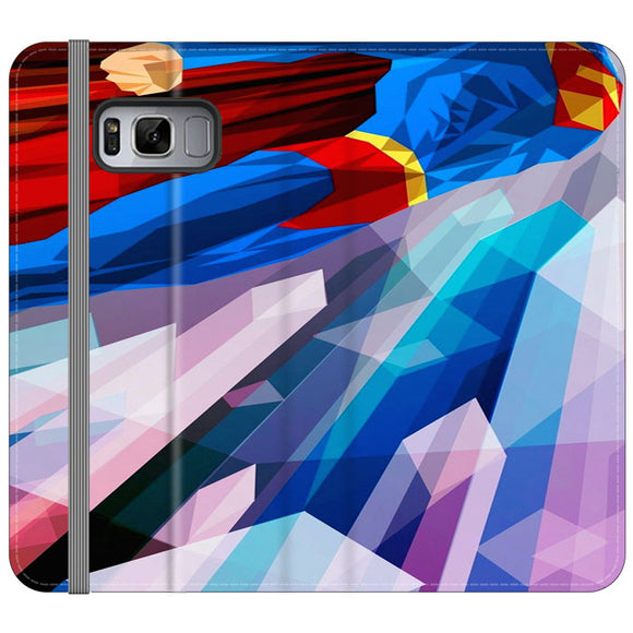 Superman Art Abstract Design Samsung Galaxy S8 Flip Case | Frostedcase