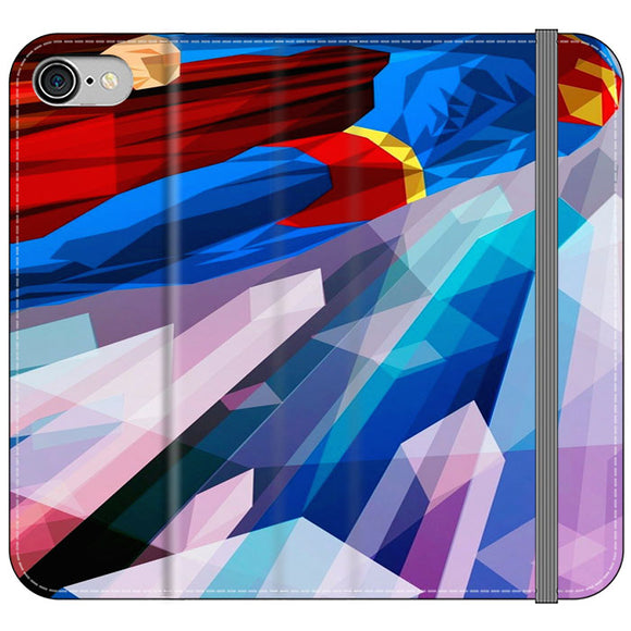 Superman Art Abstract Design iPhone 8 Flip Case | Frostedcase