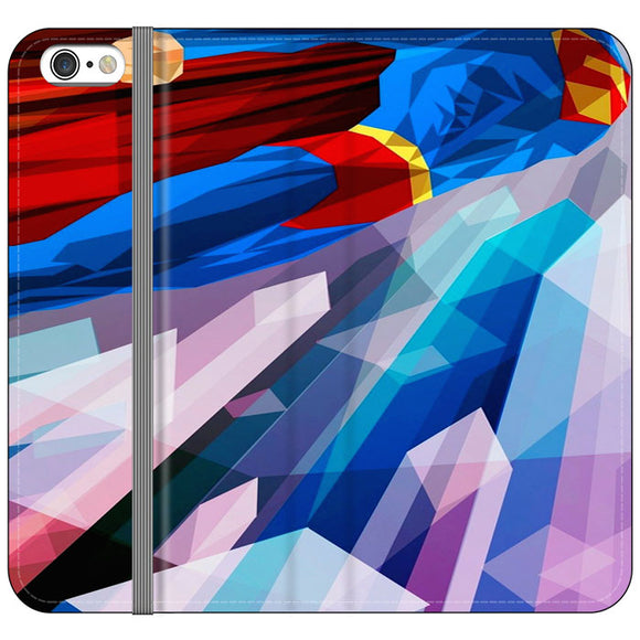 Superman Art Abstract Design iPhone 6 Plus|6S Plus Flip Case | Frostedcase