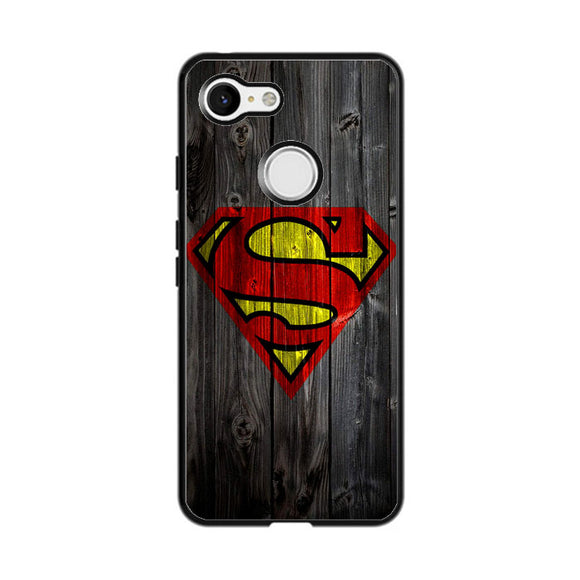 Superman Logo Wood Google Pixel 3 XL Case | Frostedcase