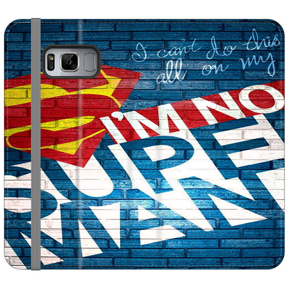 Superman In The Wall Samsung Galaxy S8 Flip Case | Frostedcase