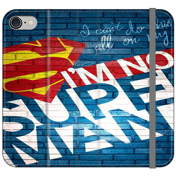 Superman In The Wall iPhone 8 Flip Case | Frostedcase