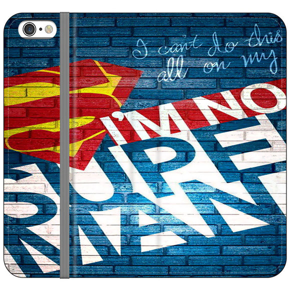 Superman In The Wall iPhone 6 Plus|6S Plus Flip Case | Frostedcase