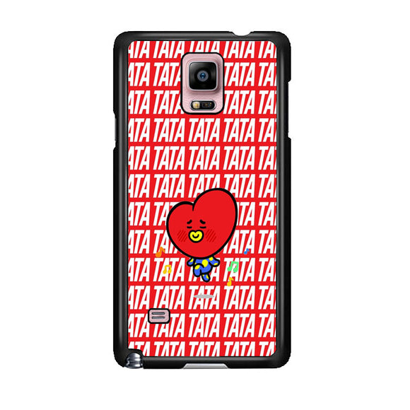 Tata Bts Icon Pattern Samsung Galaxy Note 4 Case | Frostedcase