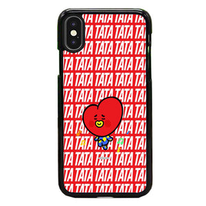 Tata Bts Icon Pattern iPhone XS Case | Frostedcase