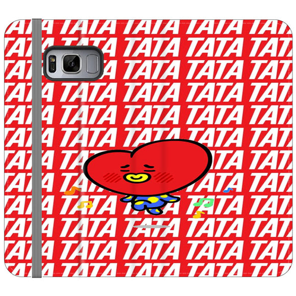 Tata Bts Icon Pattern Samsung Galaxy S8 Flip Case | Frostedcase