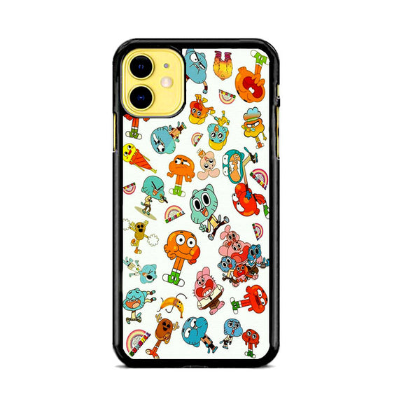 The Amazing World Of Gumball Canvas Character iPhone 11 Case | Frostedcase