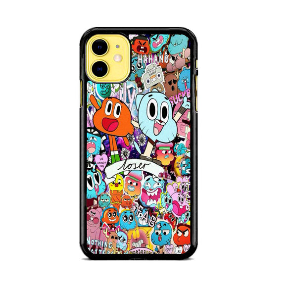 The Amazing World Of Gumball Doodle Collection iPhone 11 Case | Frostedcase