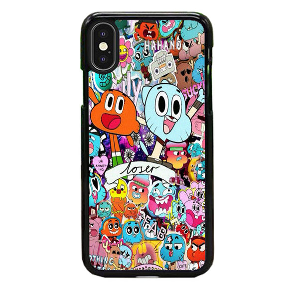 The Amazing World Of Gumball Doodle Collection iPhone XS Case | Frostedcase