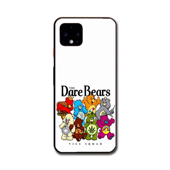 The Dare Bears Vice Squad Canvas Google Pixel 4 Case | Frostedcase