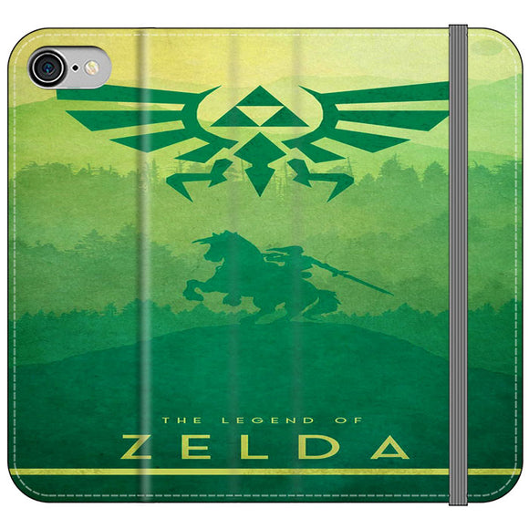 The Legend Of Zelda Drawing Art Cover iPhone 8 Flip Case | Frostedcase