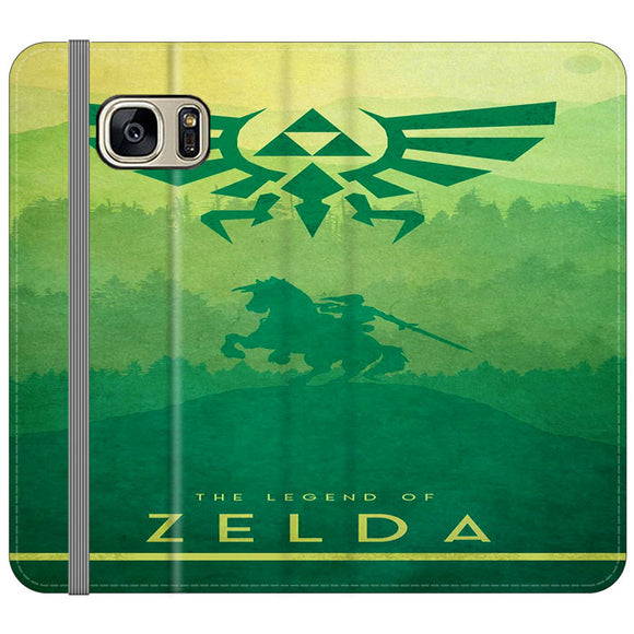 The Legend Of Zelda Drawing Art Cover Samsung Galaxy S7 EDGE Flip Case | Frostedcase