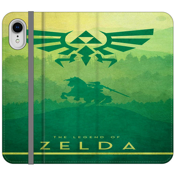 The Legend Of Zelda Drawing Art Cover iPhone XR Flip Case | Frostedcase