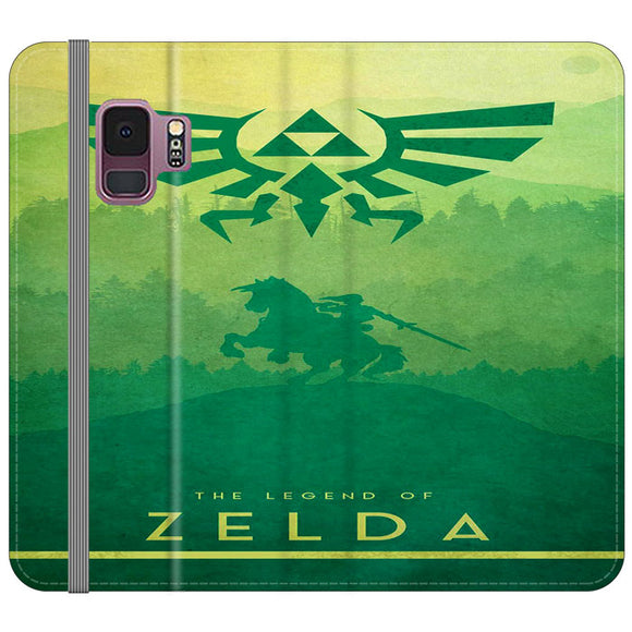 The Legend Of Zelda Drawing Art Cover Samsung Galaxy S9 Flip Case | Frostedcase