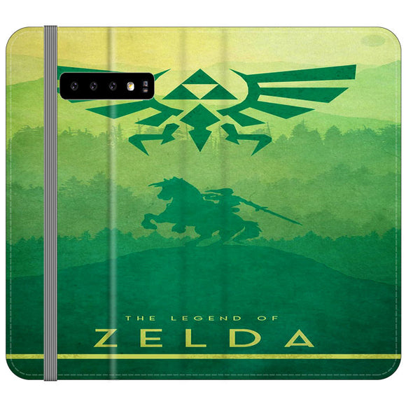The Legend Of Zelda Drawing Art Cover Samsung Galaxy S10 Plus Flip Case | Frostedcase