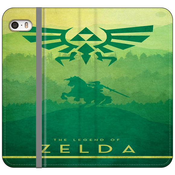 The Legend Of Zelda Drawing Art Cover iPhone 5|5S|SE Flip Case | Frostedcase