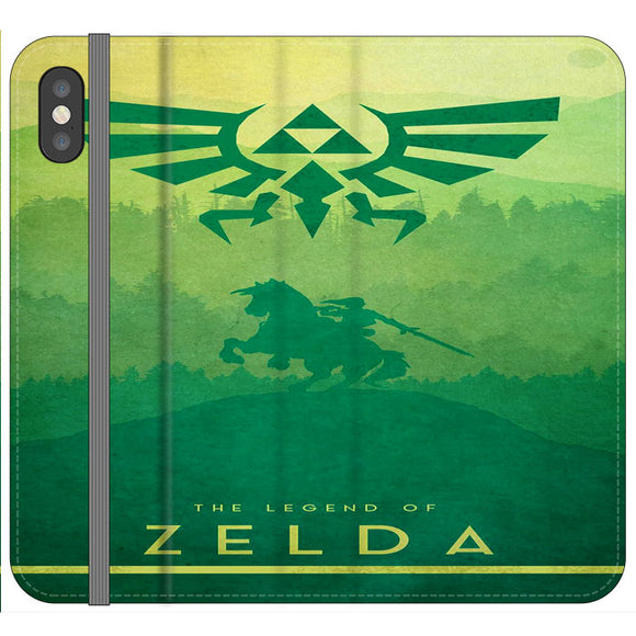 The Legend Of Zelda Drawing Art Cover iPhone X Flip Case | Frostedcase
