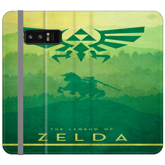 The Legend Of Zelda Drawing Art Cover Samsung Galaxy Note 8 Flip Case | Frostedcase