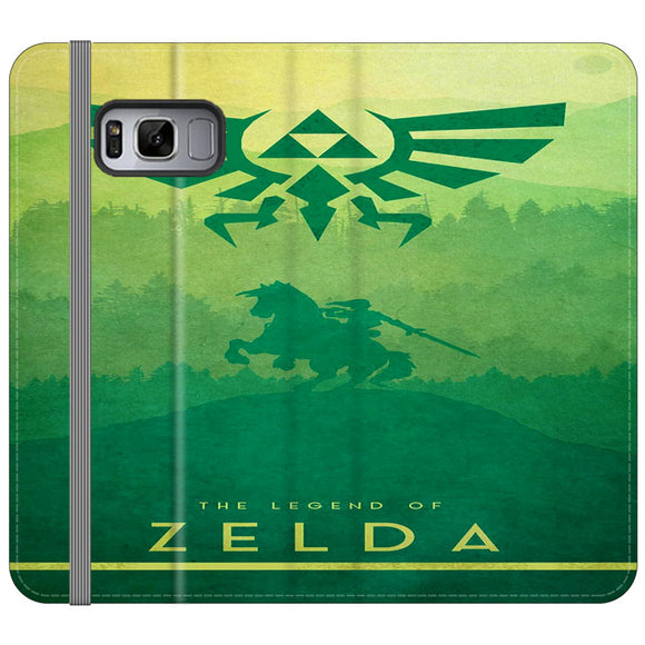 The Legend Of Zelda Drawing Art Cover Samsung Galaxy S8 Flip Case | Frostedcase