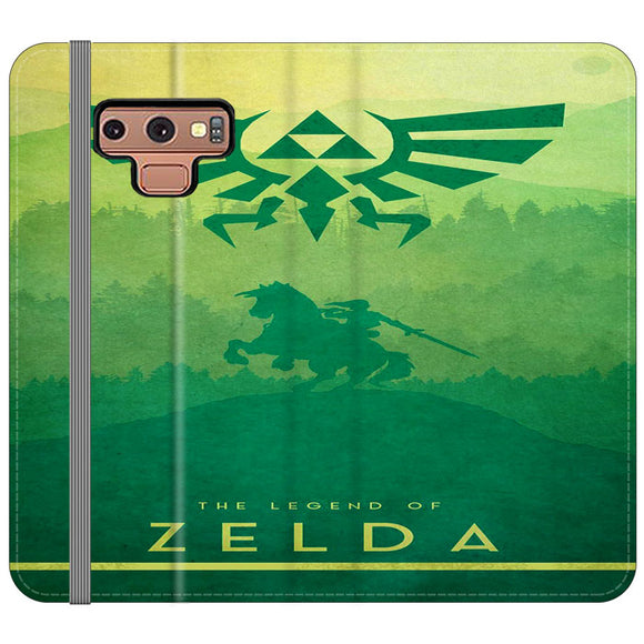 The Legend Of Zelda Drawing Art Cover Samsung Galaxy Note 9 Flip Case | Frostedcase