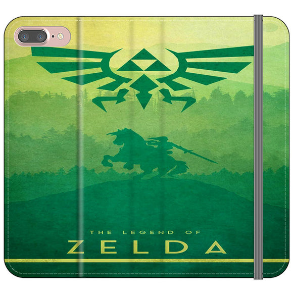 The Legend Of Zelda Drawing Art Cover iPhone 7 Plus Flip Case | Frostedcase
