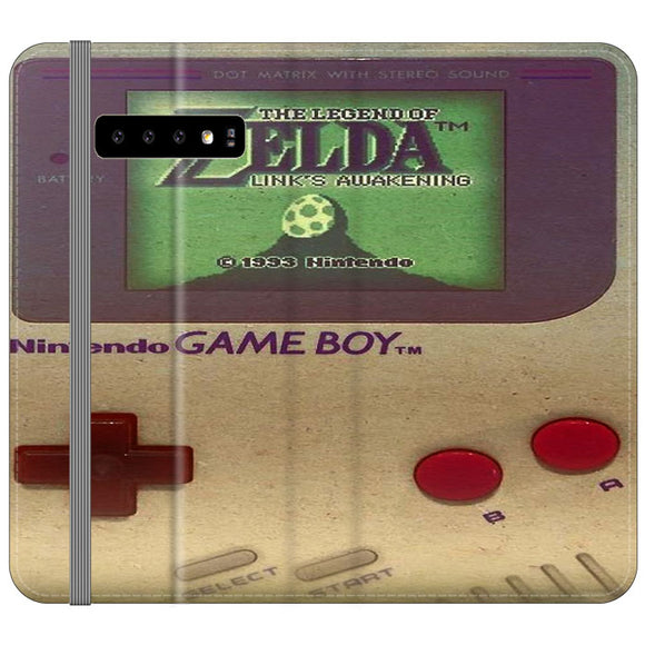The Legend Of Zelda Nintendo Game Boy Samsung Galaxy S10 Plus Flip Case | Frostedcase