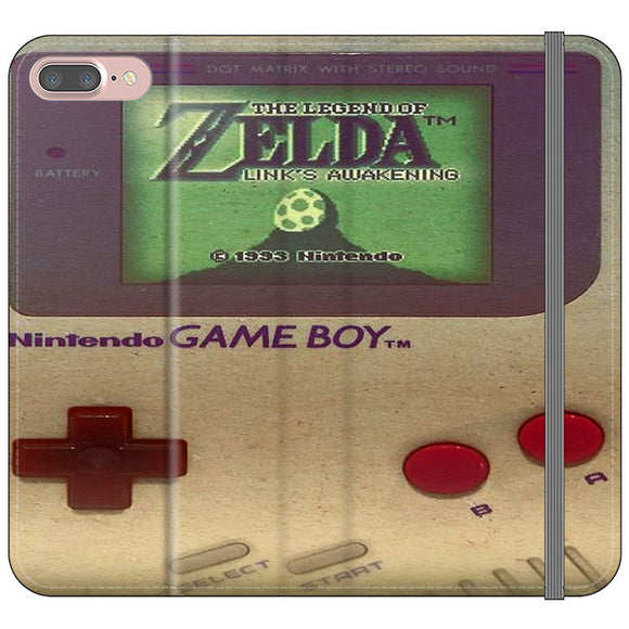 The Legend Of Zelda Nintendo Game Boy iPhone 7 Plus Flip Case | Frostedcase