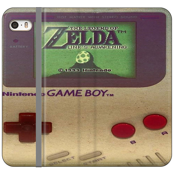 The Legend Of Zelda Nintendo Game Boy iPhone 5|5S|SE Flip Case | Frostedcase