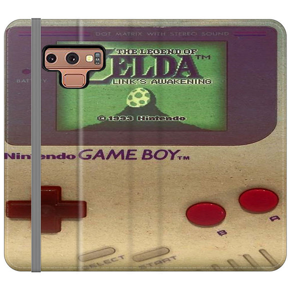 The Legend Of Zelda Nintendo Game Boy Samsung Galaxy Note 9 Flip Case | Frostedcase