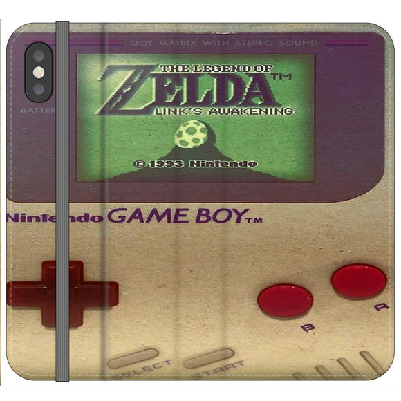 The Legend Of Zelda Nintendo Game Boy iPhone XS Max Flip Case | Frostedcase