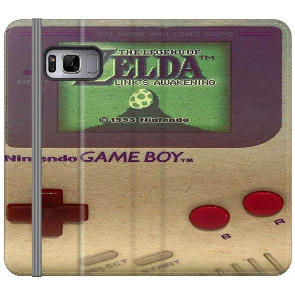 The Legend Of Zelda Nintendo Game Boy Samsung Galaxy S8 Flip Case | Frostedcase