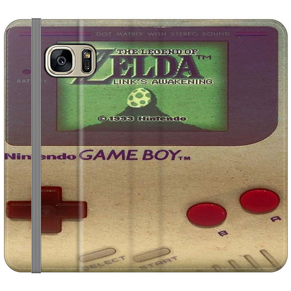 The Legend Of Zelda Nintendo Game Boy Samsung Galaxy S7 EDGE Flip Case | Frostedcase