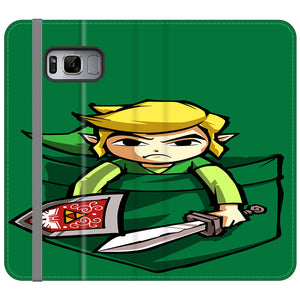 The Legend Of Zelda Pocket Angry Samsung Galaxy S8 Plus Flip Case | Frostedcase
