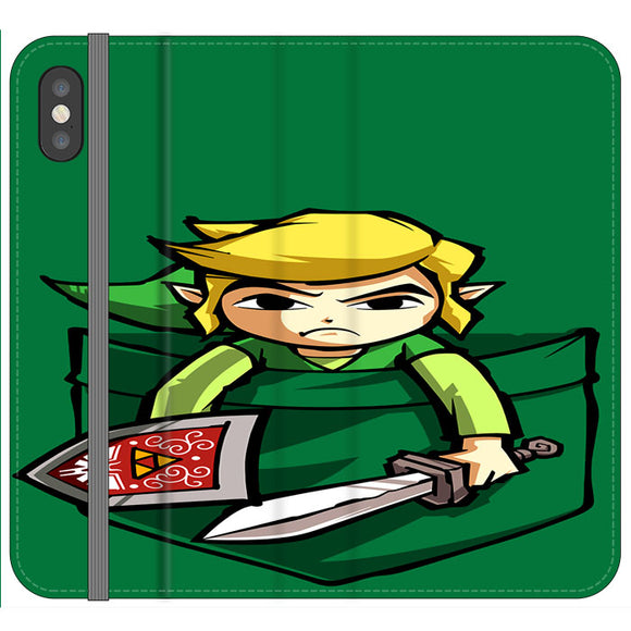 The Legend Of Zelda Pocket Angry iPhone X Flip Case | Frostedcase