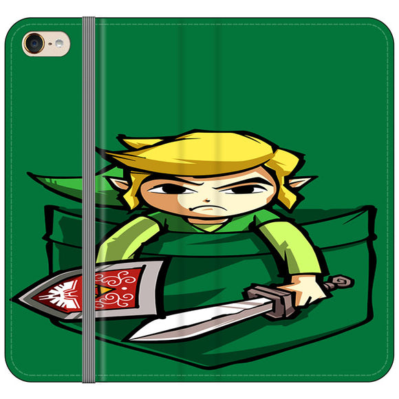 The Legend Of Zelda Pocket Angry iPod 6 Flip Case | Frostedcase
