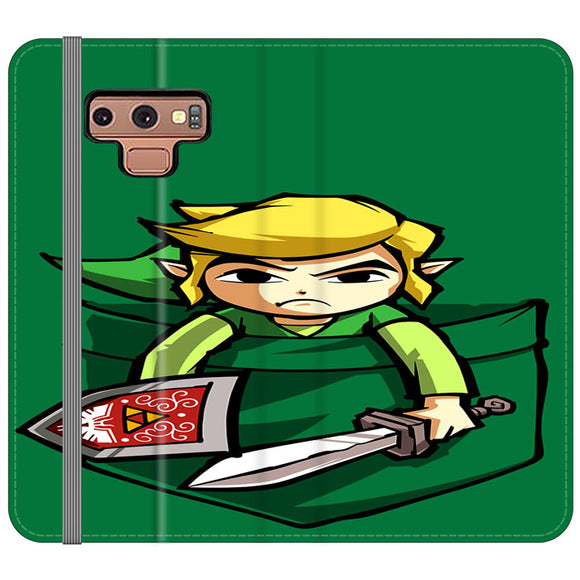 The Legend Of Zelda Pocket Angry Samsung Galaxy Note 9 Flip Case | Frostedcase