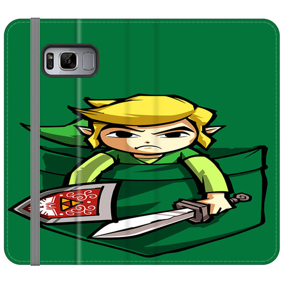 The Legend Of Zelda Pocket Angry Samsung Galaxy S8 Flip Case | Frostedcase