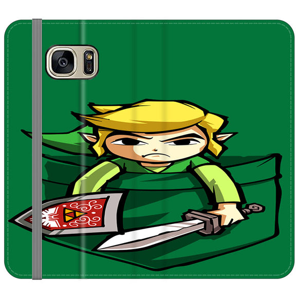 The Legend Of Zelda Pocket Angry Samsung Galaxy S7 EDGE Flip Case | Frostedcase