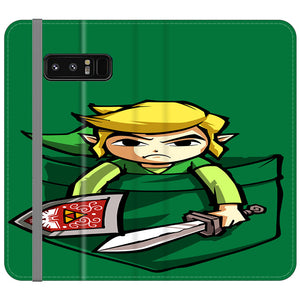 The Legend Of Zelda Pocket Angry Samsung Galaxy Note 8 Flip Case | Frostedcase