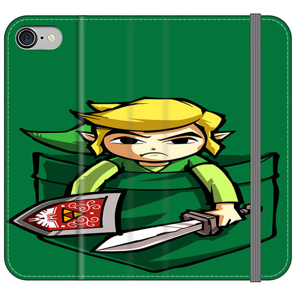 The Legend Of Zelda Pocket Angry iPhone 7 Flip Case | Frostedcase
