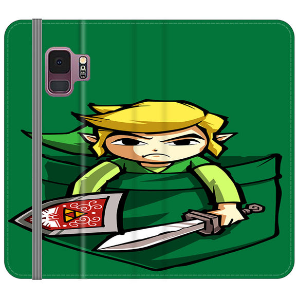 The Legend Of Zelda Pocket Angry Samsung Galaxy S9 Flip Case | Frostedcase