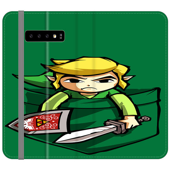 The Legend Of Zelda Pocket Angry Samsung Galaxy S10e Flip Case | Frostedcase