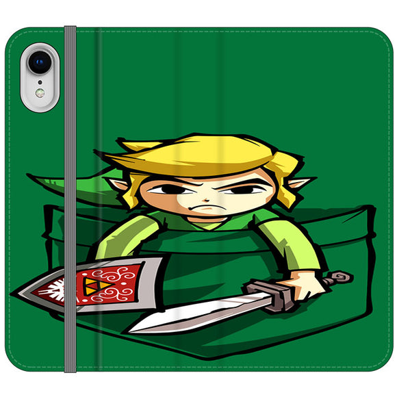 The Legend Of Zelda Pocket Angry iPhone XR Flip Case | Frostedcase
